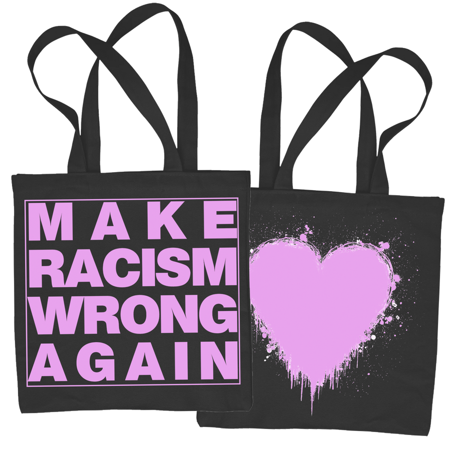 "Bystander ""Make Racism Wrong Again"" Tote Bag"