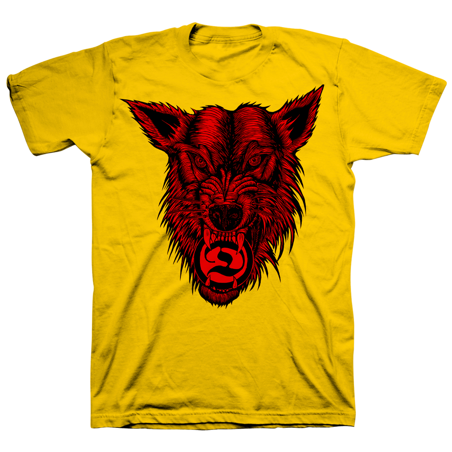 "Deathwish ""McNett Wolf"" Yellow T-Shirt"