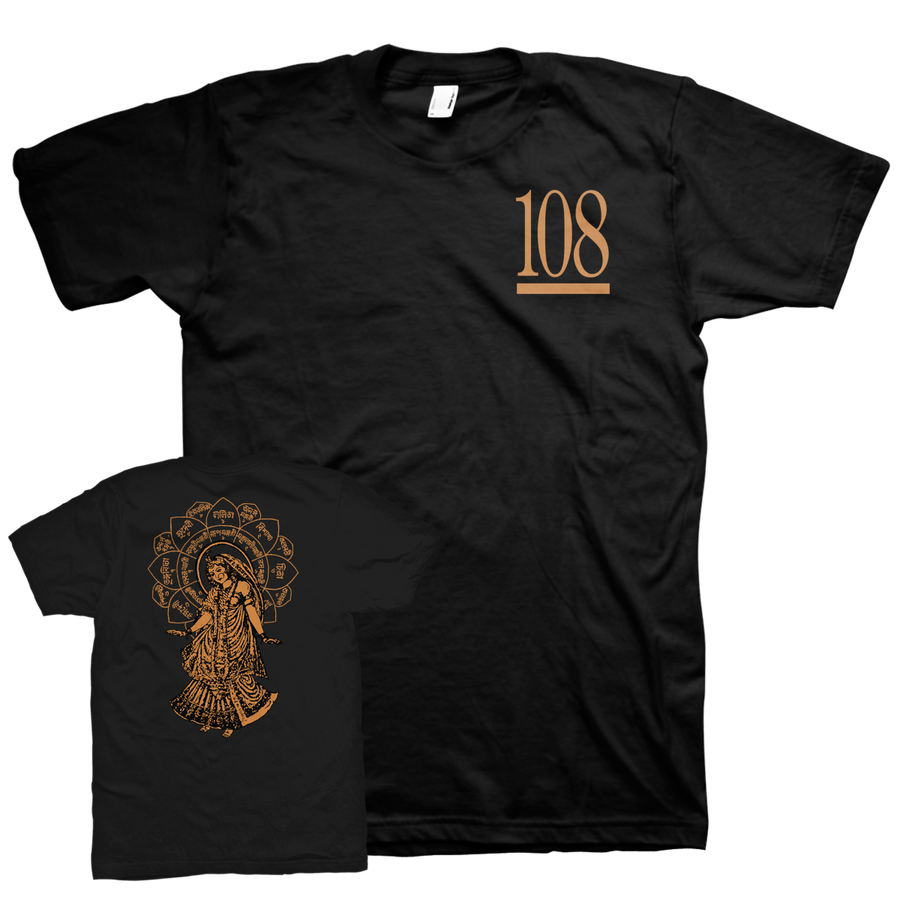"108 ""Radha"" Black T-Shirt"