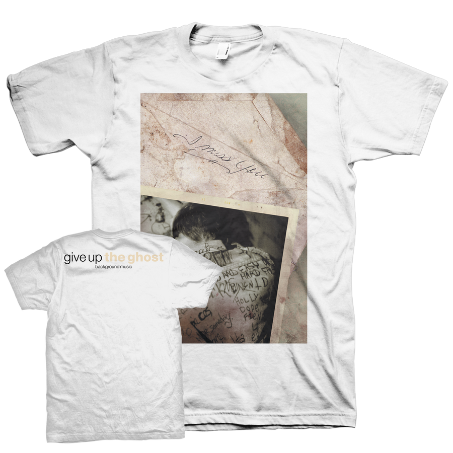 "Give Up The Ghost ""Background Music"" White T-Shirt"