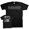 "Blacklisted ""When People Grow, People Go - Logo"" Black T-Shirt"