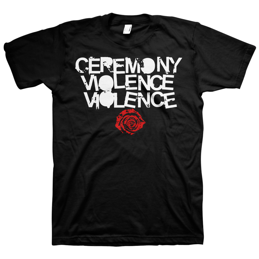 "Ceremony ""Violence Violence"" Black T-Shirt"