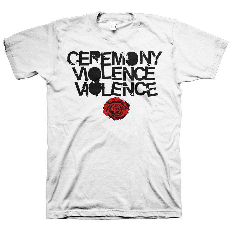 "Ceremony ""Violence Violence"" White T-Shirt"