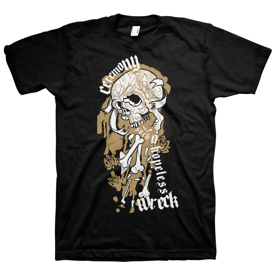 "Ceremony ""Hopeless Wreck"" Black T-Shirt"