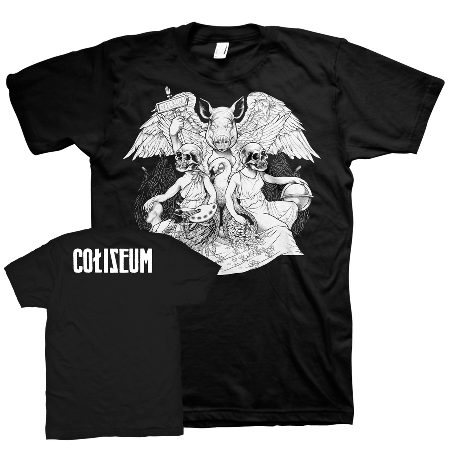 "Coliseum ""Pig God"" Premium Black T-Shirt"