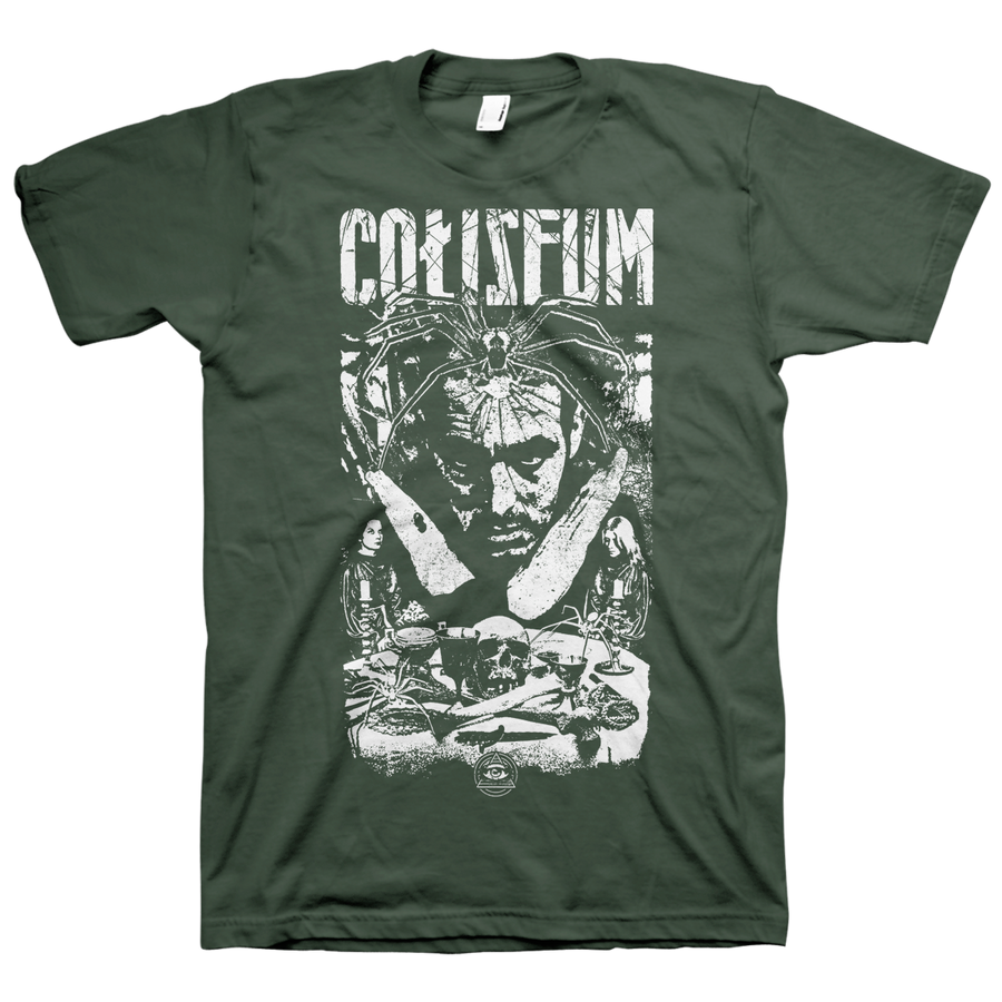 "Coliseum ""Witch Ritual"" Army Green T-Shirt"