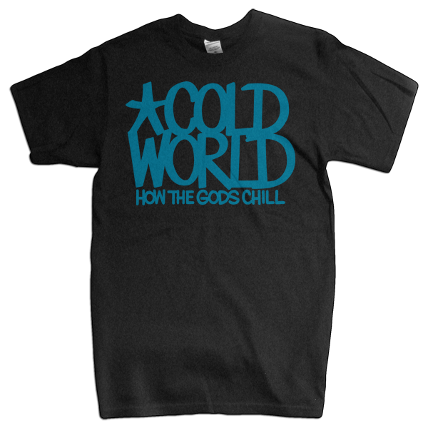 "Cold World ""HTGC Logo"" Black T-Shirt"