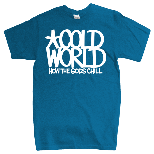 "Cold World ""HTGC Logo"" Blue Tri-Blend T-Shirt"