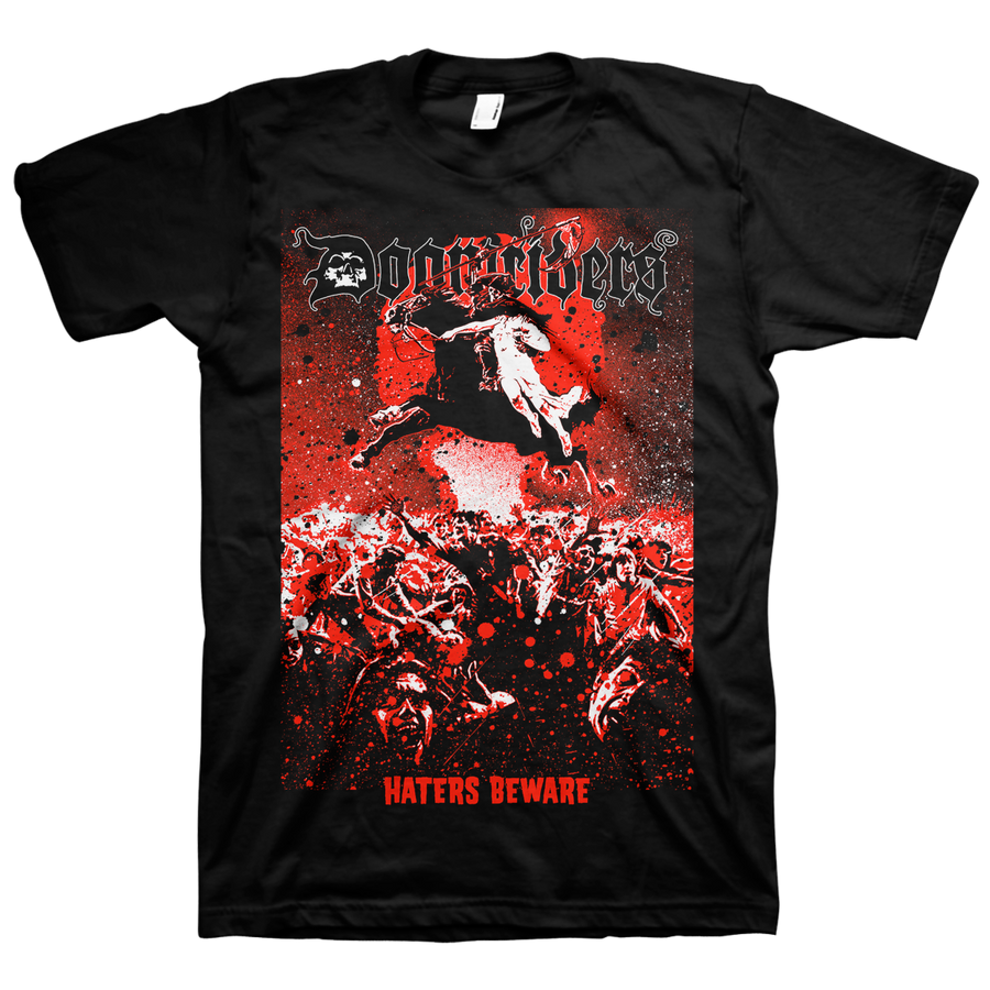 "Doomriders ""Haters Beware"" Black T-Shirt"