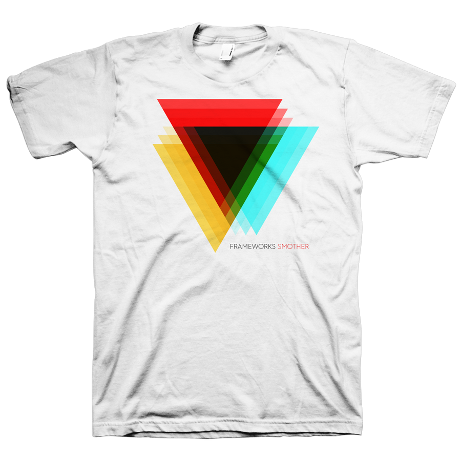 "Frameworks ""Triangle"" White T-Shirt"