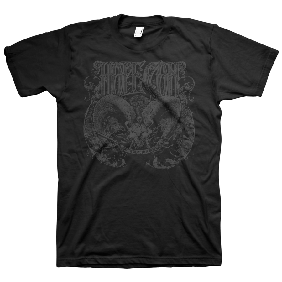 "The Hope Conspiracy ""Death Knows Your Name"" Black On Black T-Shirt"