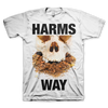 "Harm's Way ""Skull"" White T-Shirt"