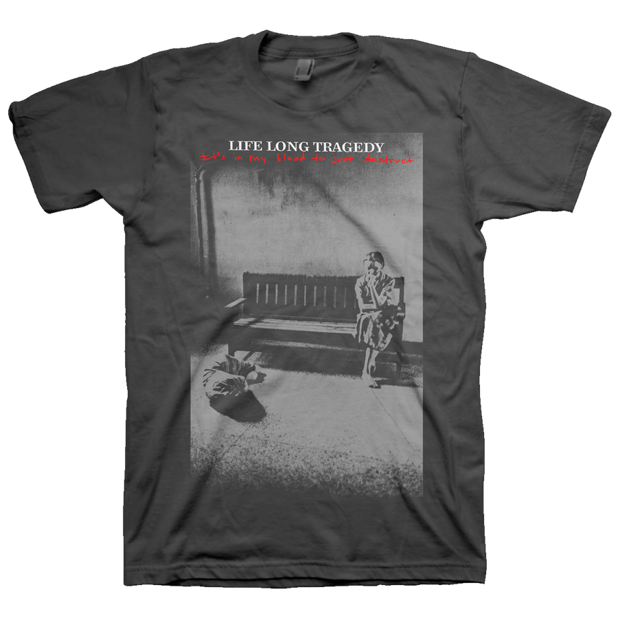 "Life Long Tragedy ""Destruct"" Grey T-Shirt"