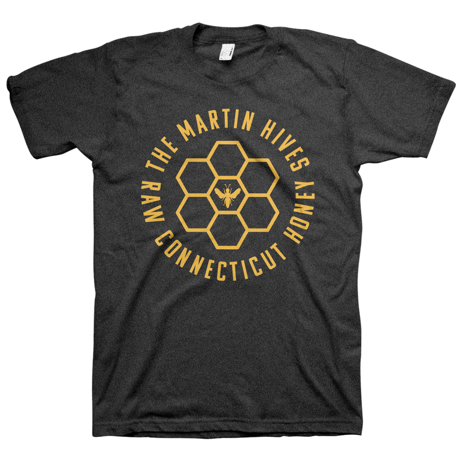"The Martin Hives Honey Co. ""Raw CT Honey"" Tri-Blend Charcoal T-Shirt"