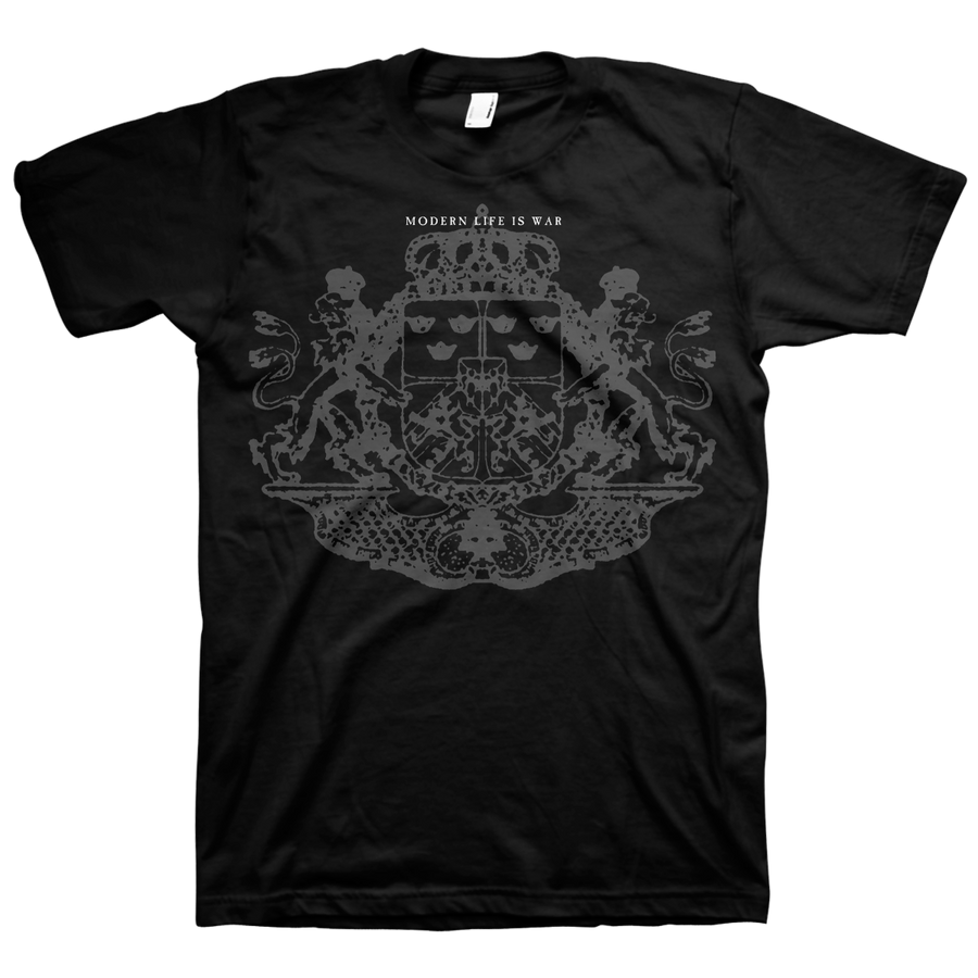 "Modern Life Is War ""Crest"" Black T-Shirt"
