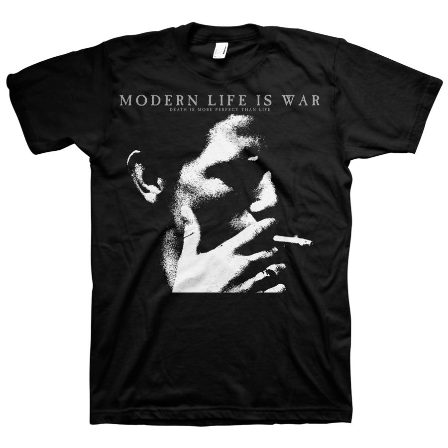 "Modern Life Is War ""Smoker"" Black T-Shirt"