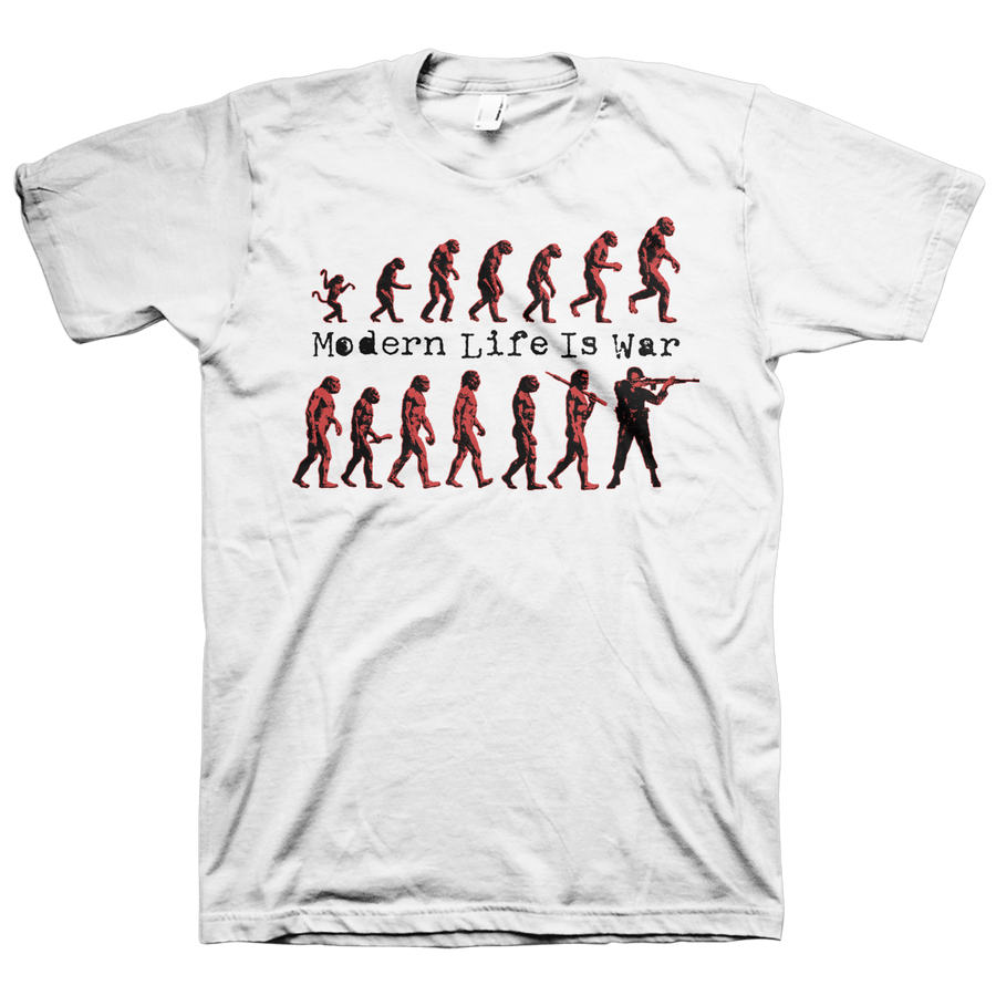 "Modern Life Is War ""Evolution"" White T-Shirt"