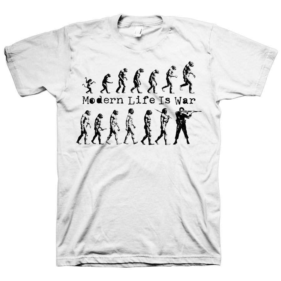 "Modern Life Is War ""Evolution Vol. 2"" White T-Shirt"