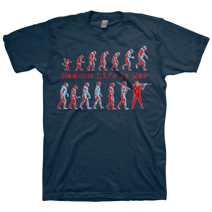 "Modern Life Is War ""Evolution Vol. 2"" Navy Blue T-Shirt"