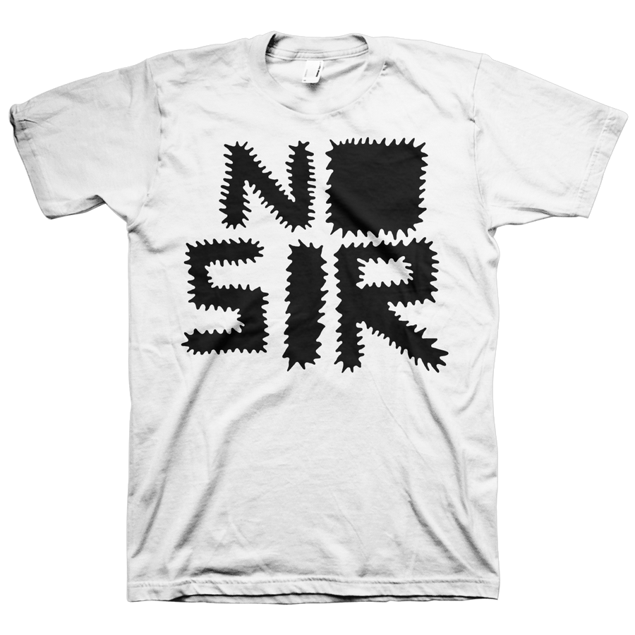 "No Sir ""Logo"" White T-Shirt"