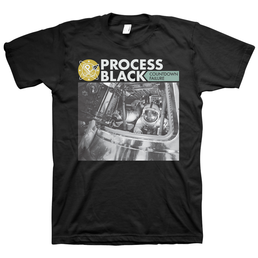 "Process Black ""Countdown Failure"" Black T-Shirt"