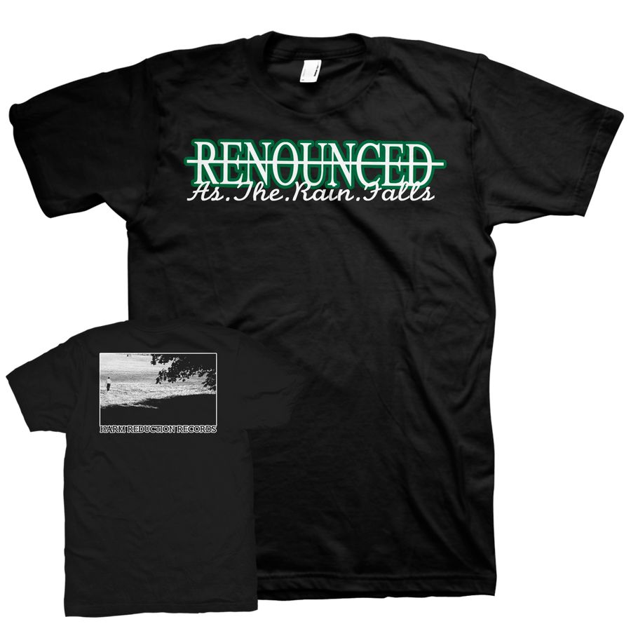 "Renounced ""As The Rain Falls"" Black T-Shirt"