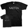 "Saetia ""Form Letter"" Black T-Shirt"
