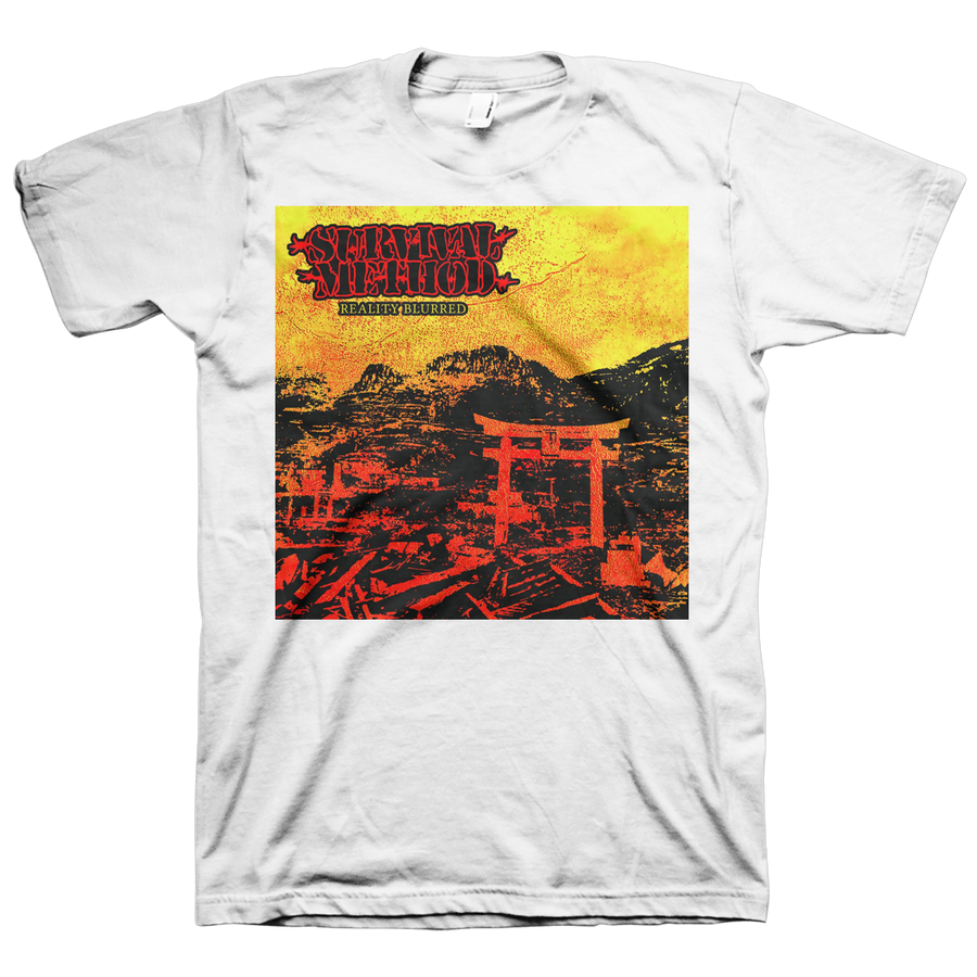 "Survival Method ""Reality Blurred"" White T-Shirt"
