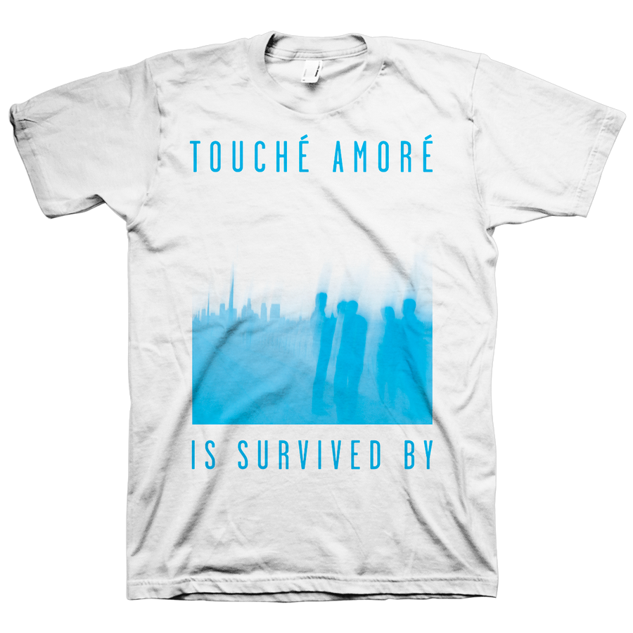 "Touche Amore ""Is Survived By"" White T-Shirt"