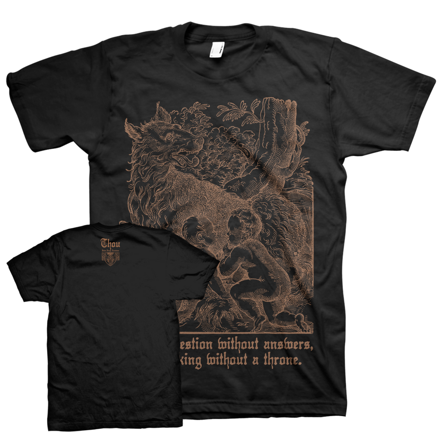 "Thou ""Rhea Sylvia"" Black T-Shirt"