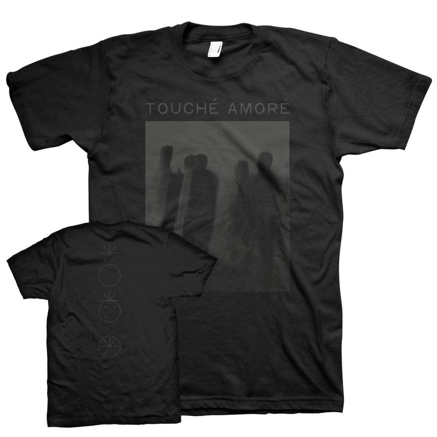 "Touche Amore ""Is Survived By"" Black On Black T-Shirt"
