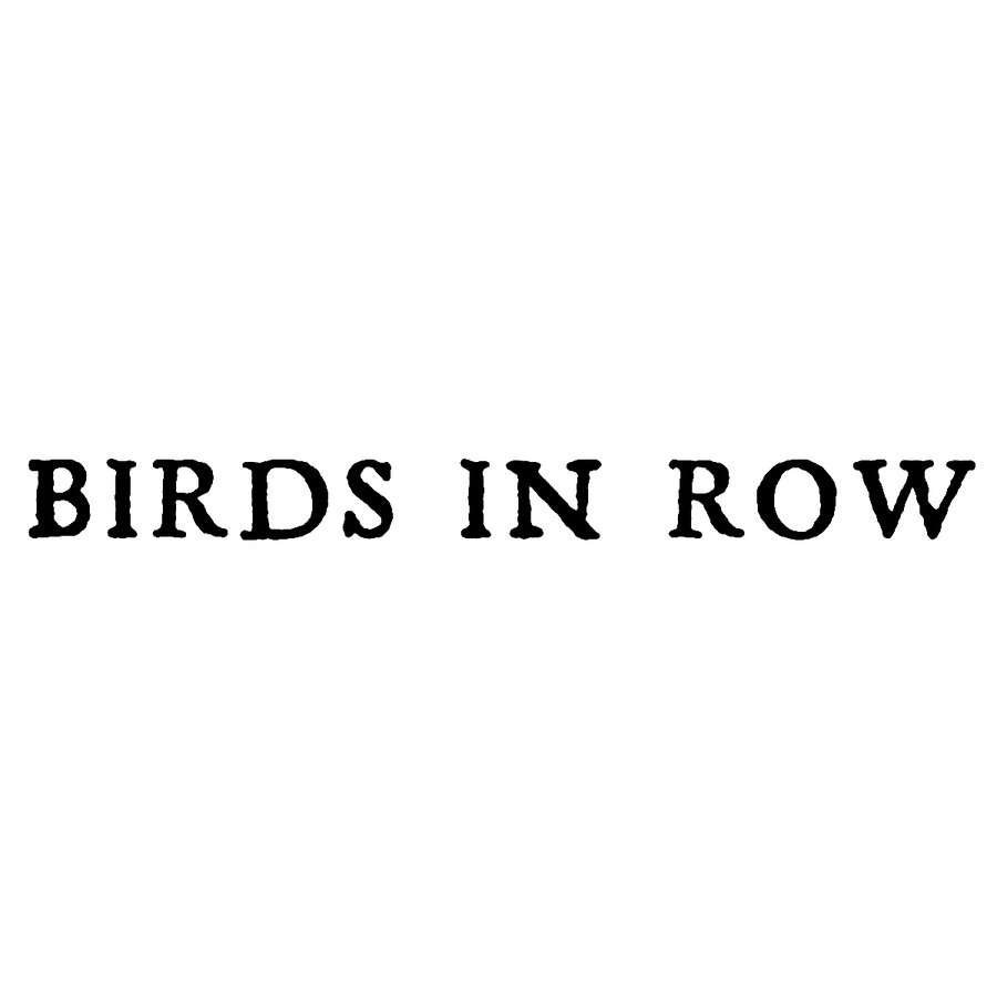 "Birds In Row ""Logo"" Sticker"