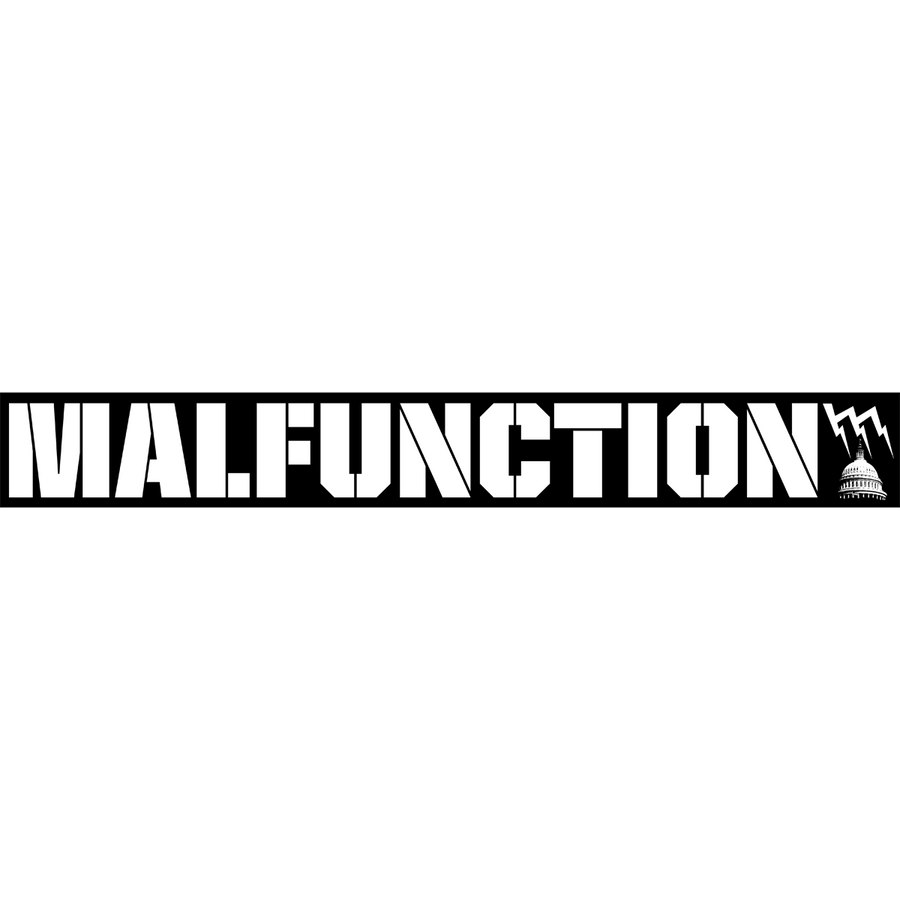 "Malfunction ""Giant Logo: Black"" Sticker"