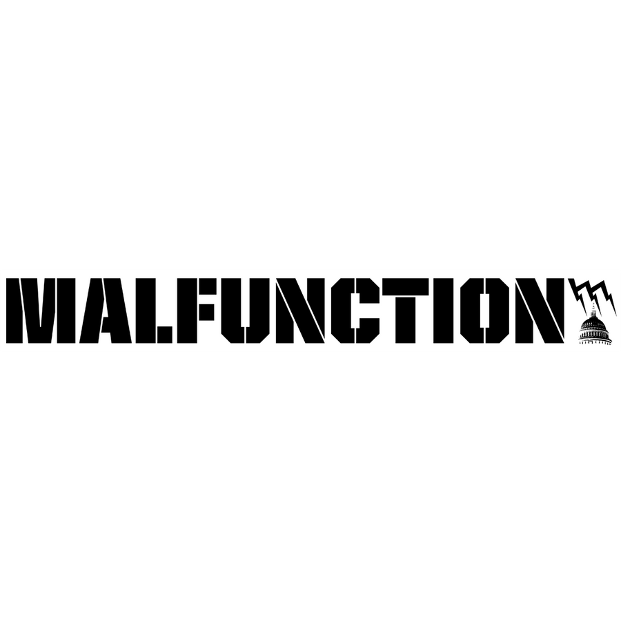 "Malfunction ""Giant Logo: White"" Sticker"
