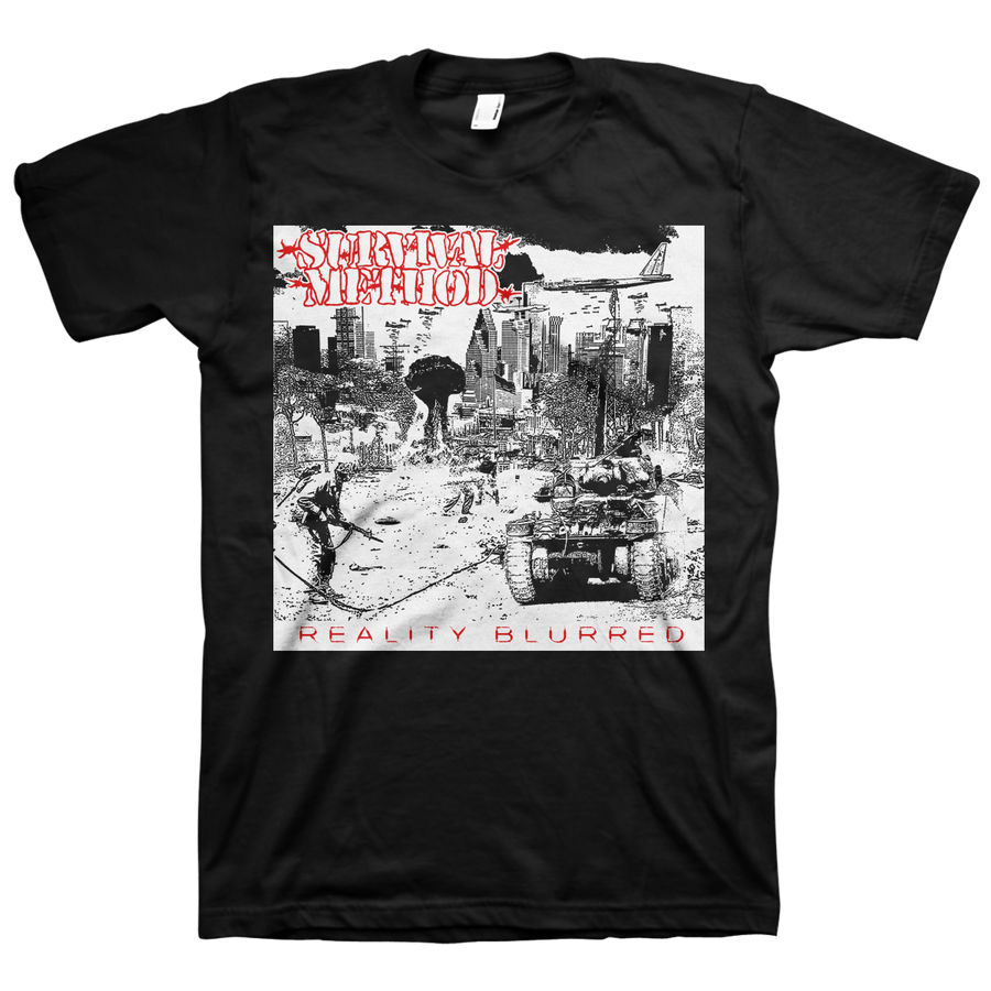 "Survival Method ""Reality Blurred"" Black T-Shirt"