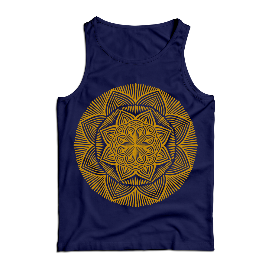 "Thomas Hooper ""Lotus Mandala"" Blue Tank Top"