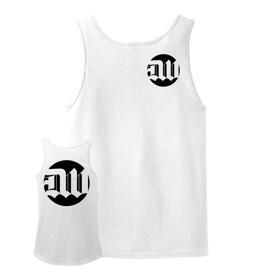 "Deathwish ""New Logo"" White Tank Top"