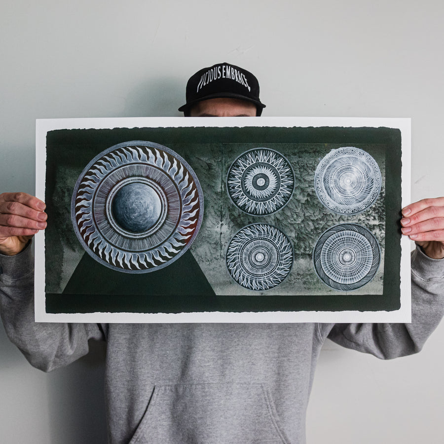 "Thomas Hooper ""Five Circles"" Giclee Print"