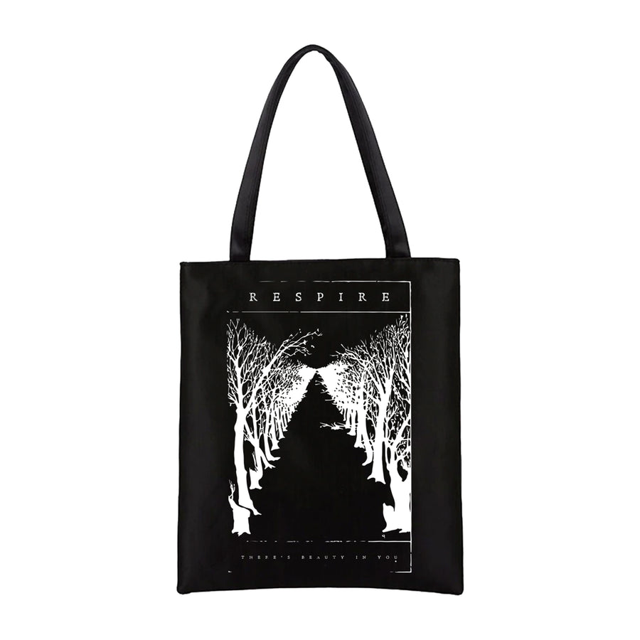 "Respire ""Black Line"" Tote Bag"