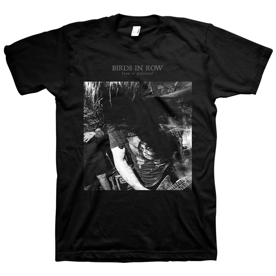 "Birds In Row ""Live"" Black T-Shirt"