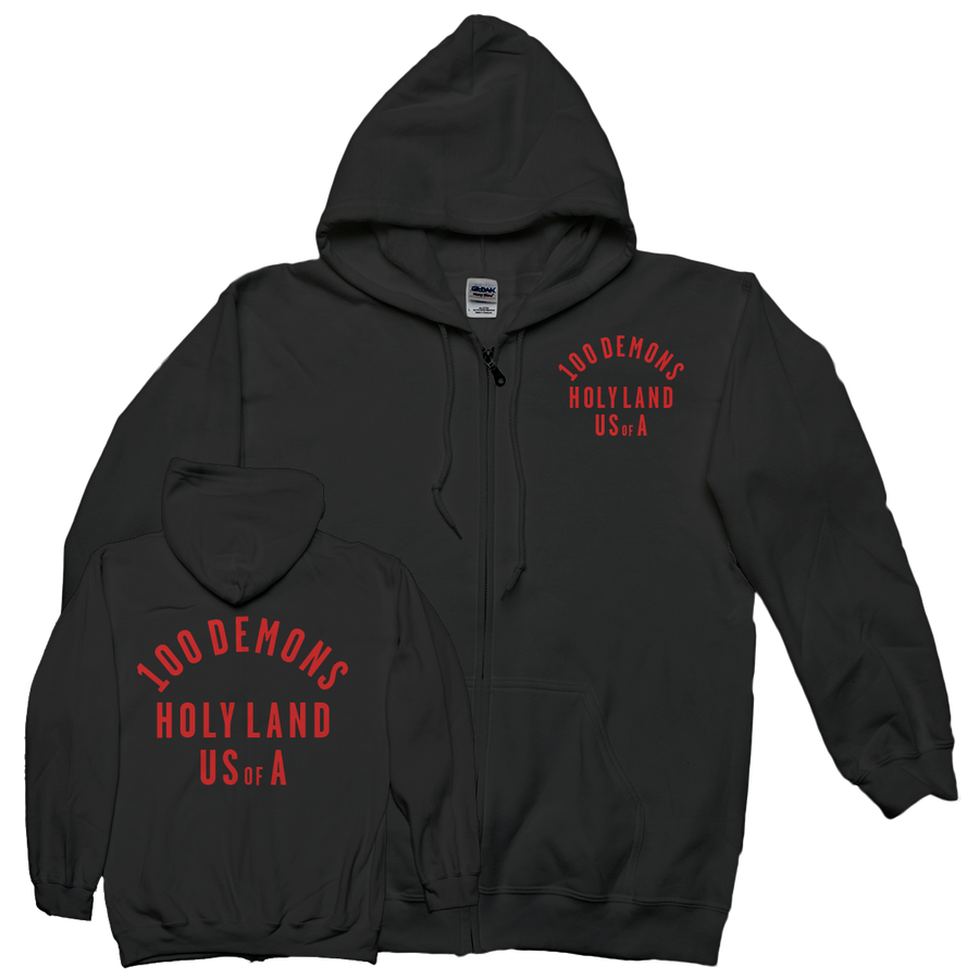 "100 Demons ""Holyland"" Zip-Up Sweatshirt"
