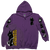 "Burn ""Reaper Pocket"" Purple Zip-Up Sweatshirt"