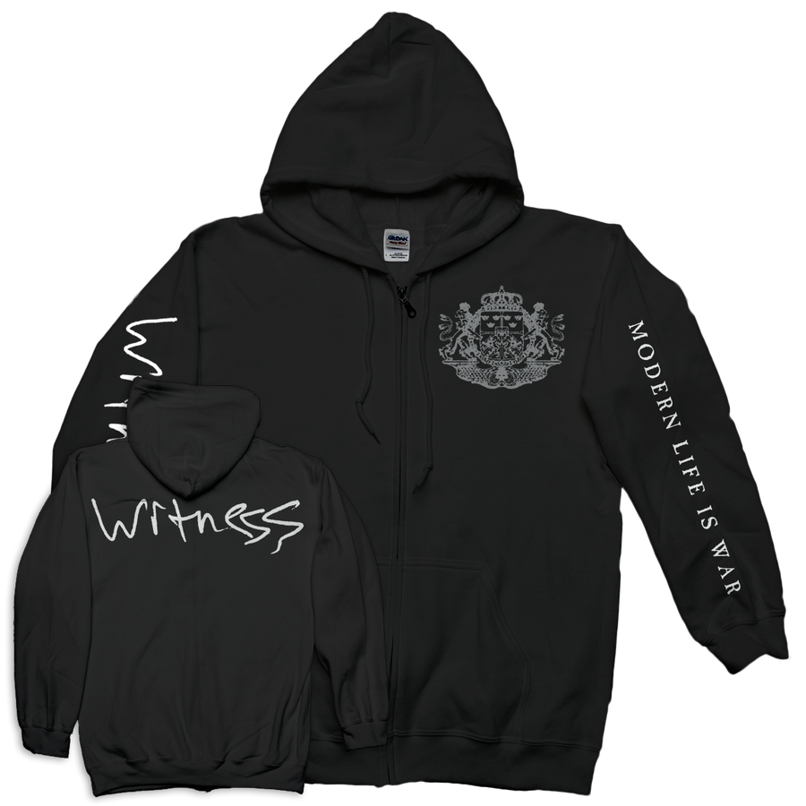 "Modern Life Is War ""Crest"" Zip-Up Sweatshirt"