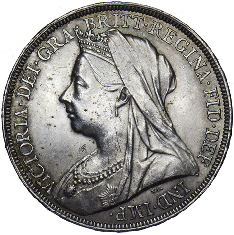 1894 LVII CROWN - VICTORIA BRITISH SILVER COIN - V NICE