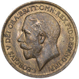 1920 PENNY - GEORGE V BRITISH BRONZE COIN - V NICE