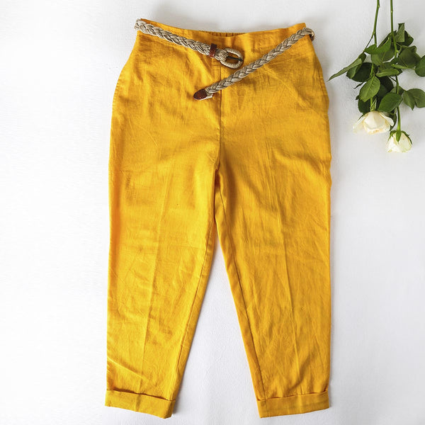 Hearty orange Crop pants