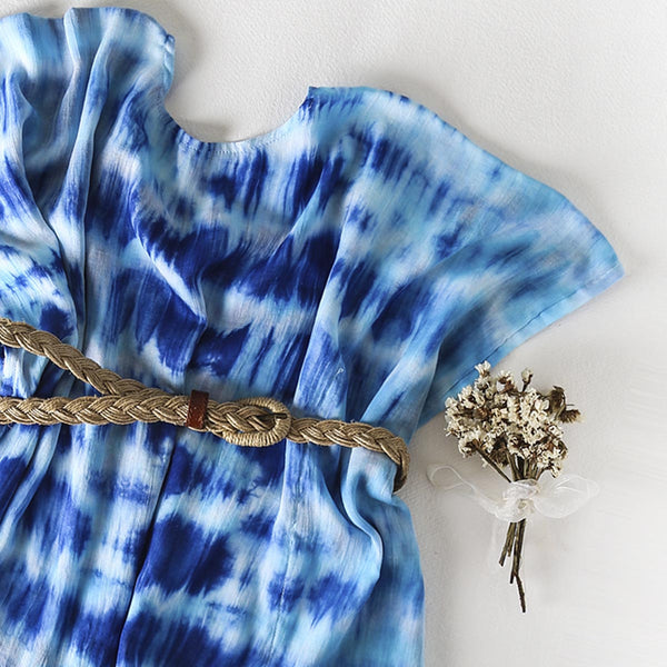 Spring Time Tie n Dye Kaftan Top