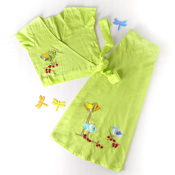 Jungle Fun Hand Embroidered Twin Set  (set of 2)
