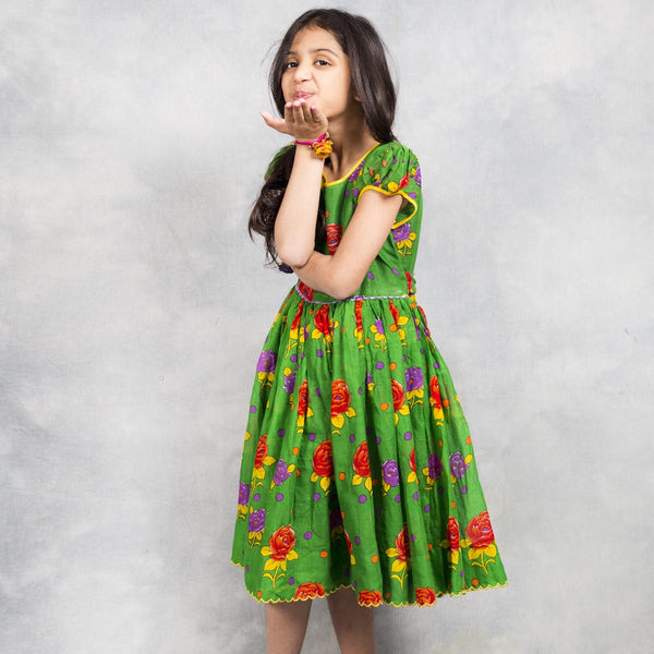 Green Frock for Kids