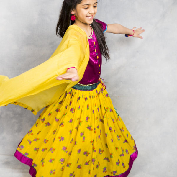 Printed Lehnga Set for Girls